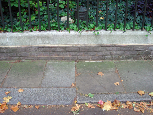 Markers and paving boundary